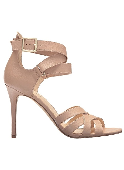 Nine West İnce Topuklu Deri Sandalet Ten